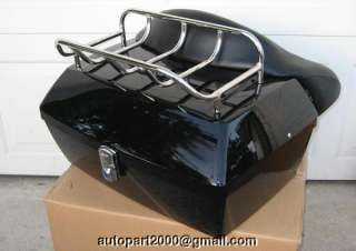 HD NEW TOUR TRUNK PACK ELECTRA GLIDE ROAD KING HARLEY black motorcycle
