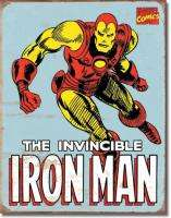 Marvel Comics Iron Man Retro Comic Art Tin Sign, NEW