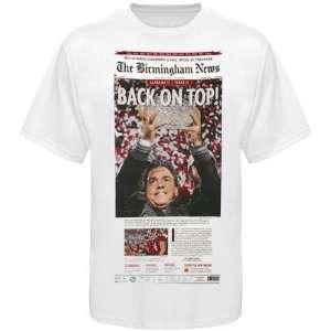com Alabama Crimson Tide White 2009 BCS National Champions Newspaper