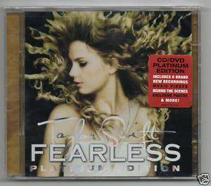 Taylor Swift (CD & DVD) Fearless (Platinum Edition) NEW 843930001996