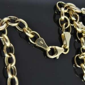 14K Yellow Rose Gold Sea Ocean Animal 3D Charm Chain Link Bracelet