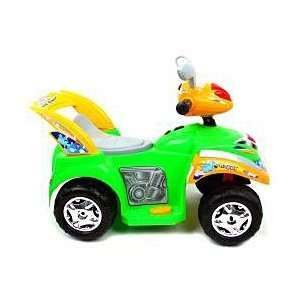 Neon Green Battery Operated Mini ATV Four Wheeler Toys & Games