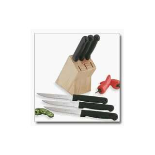 Steak Knives Set Diamond Cut® 6pc in Wood Block Kitchen