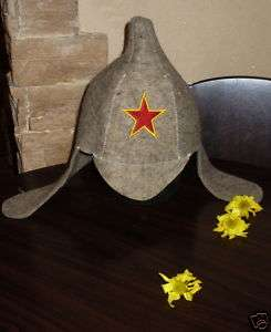 FELT HAT RUSSIAN SAUNA BANYA Budyonovka Military NEW