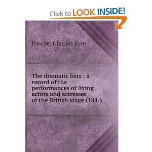 lists  a record of the performances of living actors and actresses