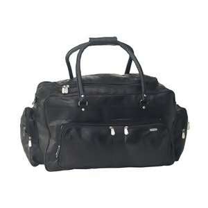 Design 23 Black Genuine Lambskin Leather Travel Bag