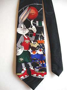 MANIA   BUGS BUNNY PLAYS BASKETBALL   VINTAGE POLY NECK TIE