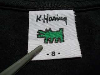 Vtg Keith Haring Watch Design T Shirt S