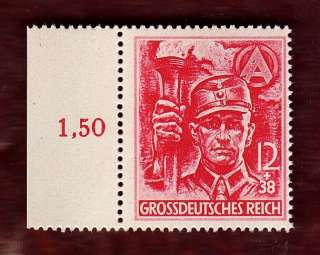 Nazi Germany 3rd Third Reich SA man brown shirt stormtrooper stamp
