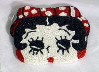 Beautiful Betty Boop Design beaded coin purses. It measures about 4