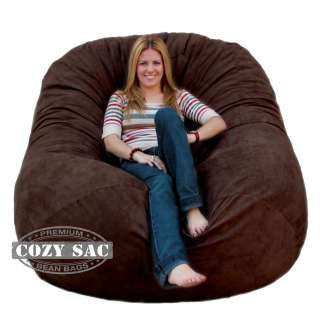 Bean Bag Chair Love Seat By Cozy Sac 6 Micro Suede Huge Large Sack