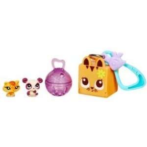 Littlest Pet Shop LPS Teensies Safari (Bear and Cat) Toys