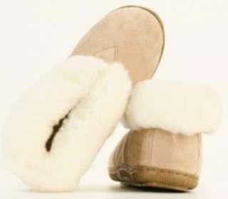 NEW OLD FRIEND Ladies Sheepskin Wool Slipper Boots