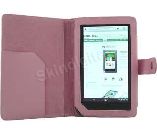 For Nook Color Blue Leather Case Cover Jacket
