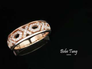Bebes Wedding 18K750 Rose Gold Diamonds ring