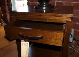 Solid Wood Side Table / Bedside with Drawer