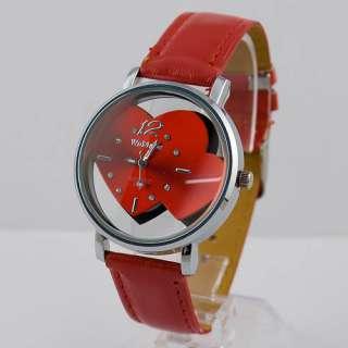Romantic Sweat Heart Dial Fashion Ladies Womens Quartz Wrist Watch