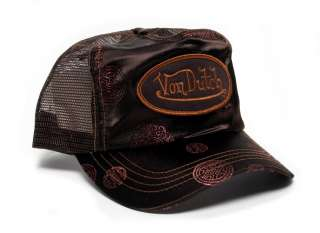 Authentic Brand New Von Dutch Brown Satin Zen Cap Hat