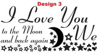 We / I Love You To The Moon Nursery Baby Wall Sticker
