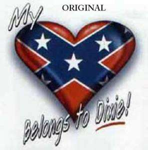 My Heart Belongs to Dixie! Cross Stitch Pat Rebel Flag