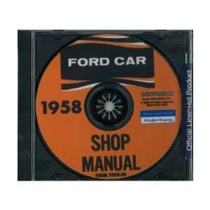 1958 FORD Car Shop Service Manual Book CD: Automotive