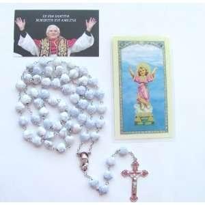 Blessed By Pope Benedict XVI Rosario Blanco   Tarjeta Con La Novena De
