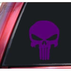 Punisher 2K Skull Vinyl Decal Sticker   Purple Automotive
