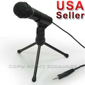STUDIO SPEECH MICROPHONE MIC WITH STAND MOUNT FOR PC LAPTOP NEW