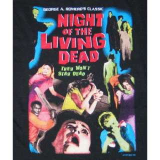 Night of the Living Dead Color Movie Poster T Shirt NEW