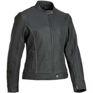 River Road Black Pearl Perforated Leather Ladies Motorcycle Jacket