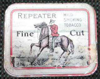 vintage/antique REPEATER TOBACCO TIN montreal canada