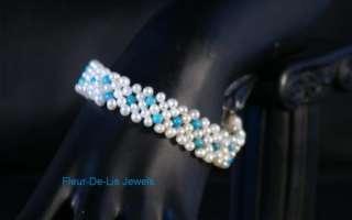 Jay King MINE FINDS Turquoise & Pearl Magnetic Bracelet Sterling