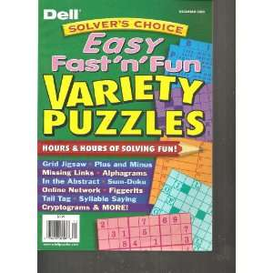 Fun Variety Puzzles (hours and hours of solving fun, December 2010