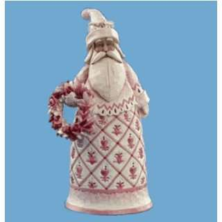Red Toile Santa Bell