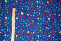 Various Size Primary Color Polka Dots Signature Classics Fabric Quilt