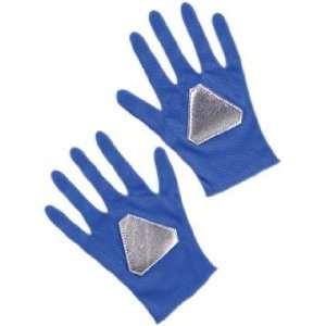 Childrens Blue Ranger Costume Gloves Toys & Games