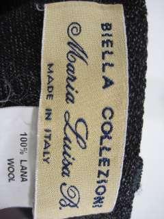 BIELLA COLLEZIONI Dark Gray Wool Blazer Pants Suit 44