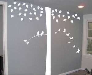 FT BIG TREE BIRDS AND BUTTERFLIES MURAL WALL DECAL