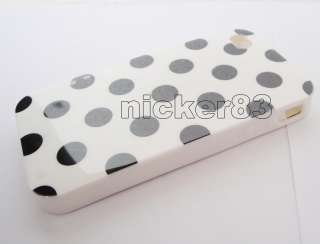 big dot tpu skin cover case for iphone 4 4g color black white blue red