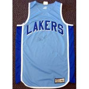 Johnson Autographed/Hand Signed Lakers Blue Jersey PSA/DNA #C57036