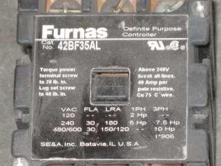 FURNAS 42BF35AL 3POLE 30AMP DEFINITE PURPOSE CONTACTOR