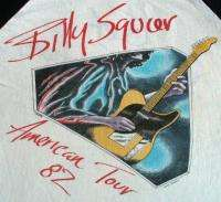 BILLY SQUIER Vintage Concert SHIRT 80s TOUR T RAGLAN Jersey RARE