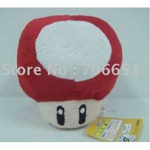 whole 5 super mario bros mushroom plush 100pcs/lot soft