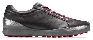 Ecco Mens Biom Hybrid Golf Shoes 131504 50612 Black/Brick Yak Leather