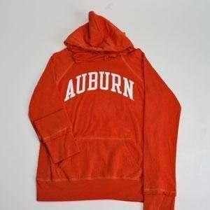 Auburn Hooded Sweatshirt   Ladies Hoody By League   Orange