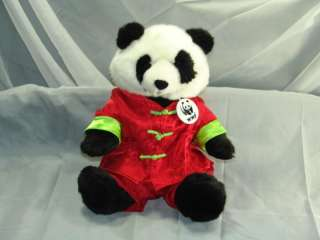 Build a Bear WWF Panda Bear Red Republic of Tea Plush