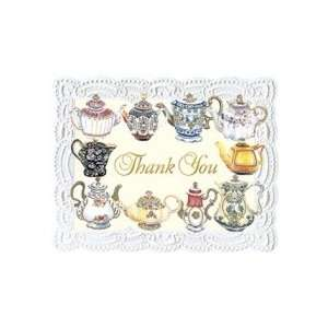 Carol Wilson Teapots Boxed Thank You Cards 8 Ct Health