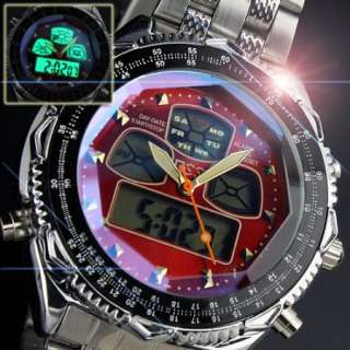 new ESS sport quartz watch men boy stainless steel multi function