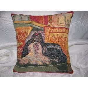 Tapestry Pillow / Pillow Cover Shih Tzu Dog Puppy: Home & Kitchen
