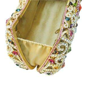 Purse Multi Austrian Rhinestone Crystal Clutch Evening Bag Blossom